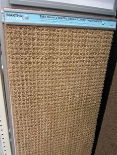 Martha Stewart carpeting at Home Depot that looks like a sisal rug (style: Hillwood)