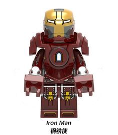 Mk V Ironman Custom Minifigures Mini figure compatible with Lego. Superhero in American comic books published by Marvel DC. Film: Avengers: Infinity War Blank Panther Ironman Thor: Ragnarok Civil War Spider-Man And-Man Minifigura Lego, Lego Ninjago, Legos, Lego Iron Man, Lego Man, Lego Custom Minifigures, Lego Minifigs, Lego Marvel Super Heroes, Marvel Dc