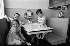 Family at a cafe, May 1964, Vancouver Canada