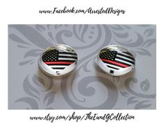 acrylic stainless steel post back stud Thin Gold Line 911 Dispatcher earrings Jewelry Emergency 911 Dispatcher
