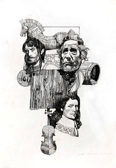 SERGIO TOPPI Ulisse, Diogene e Stradivari Ink