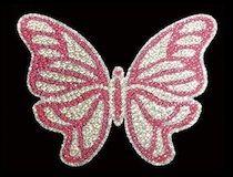 Butterfly Rhinestone & Glitter Window Sticker Decal