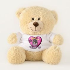 German Shepherd Valentines Day Teddy Bear - valentines day gifts gift idea diy customize special couple love