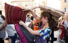 Pin for Later: World Pillow Fight Day Is a Bigger Deal Than You Thought Valencia, Spain