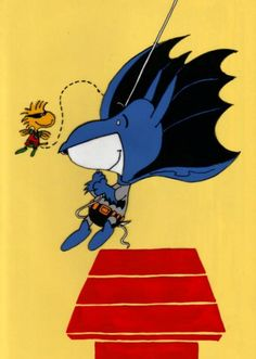 Snoopy and Woodstock are 'Batman & Robin'!