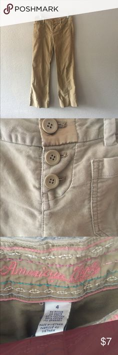 American Eagle khaki size 4 American Eagle khaki pants size 4 American Eagle Outfitters Pants Boot Cut & Flare
