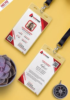 Home Decoration With Flowers Identity Card Design, Name Card Design, Corporate Identity Design, Id Card Template, Free Business Card Templates, Psd Templates, Id Design, Badge Design, Employee Id Card