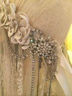 Nice idea for curtain tie-backs Sheelin Lace Shop
