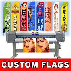 15' Full Color Custom Tall Swooper Advertising Flag Feather Banner +Pole & Spike #AdvertisingIdeas