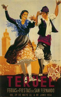 Cartel Fiestas Teruel año 1954