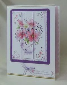 Card Making Project - Lilacs and Pinks Floral Vase Card