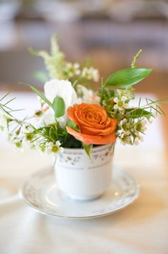 Flowers in a teacup!