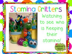 Stamina Critters watch to see who can keep their stamina during Daily 5 or other times throughout the day. There is also a poem and a song about stamina that you can grab for *free*! Kindergarten Language Arts, Teaching Language Arts, Kindergarten Literacy, Preschool, Daily Five Math, Daily 5, Student Teaching, Teaching Reading, Guided Reading