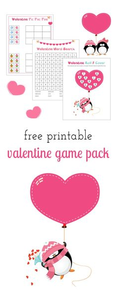 Perfect for school Valentine's Day parties, classroom fun, travel, or keeping busy at home, kids of all ages will enjoy this Free Printable Valentine Game Pack.  via @HTTP://www.pinterest.com/fireflymudpie/