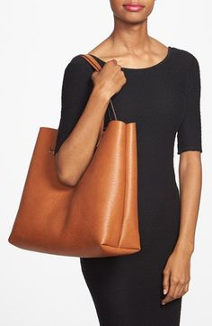 Street Level Reversible Vegan Leather Tote & Wristlet | Nordstrom ($58.61)