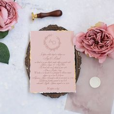 Invitatie de nunta ARTEMIS Pink recycled paper with gold foil. Wedding Stationary, Wedding Invitations, Artemis, Place Cards, Recycling, Place Card Holders, Gold Foil, Paper, Modern