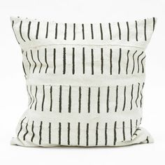 Fine Little Day - Lines pillow case Swedish design meets African crafts. Contemporary Decorative Pillows, African Crafts, African Textiles, Swedish Design, Deco Furniture, Pillow Sale, African Design, Textile Patterns, Graphic Patterns