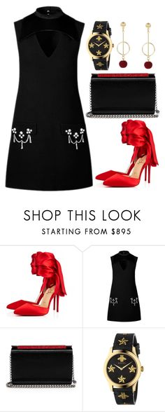 """""""#PolyPresents: Statement Shoes"""" by bbywolfy on Polyvore featuring Christian Louboutin, Gucci, contestentry and polyPresents"""
