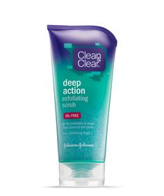 clean and clear facd wash | scrub clean skin deep down without clogging pores new clean clear ...