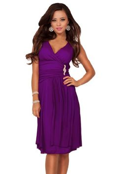 Amazon.com: Sleeveless V Neck Rhinestone Sheer Layer Bridesmaid Party Cocktail Short Dress: Clothing