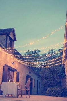 Outdoor lights for the patio? fairy lights in the Dordogne, France Warm White Fairy Lights, Dordogne, Just Dream, Outdoor Lighting, Lighting Ideas, Wedding Lighting, Outdoor Fairy Lights, Pathway Lighting, Backyard Lighting