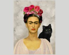 Frida Kahlo and Diego Rivera – Painting ideas Diego Rivera, Frida E Diego, Frida Art, Frida Kahlo Artwork, Frida Kahlo Portraits, Mexican Artists, Cat Art, Oeuvre D'art, Art History