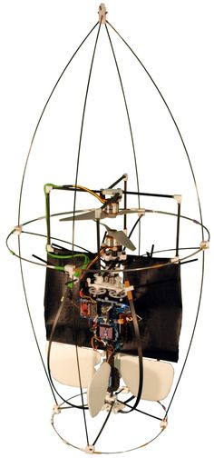 """""""Samurai"""" is the first flying robot to feature an active self-recovery mechanism, allowing it to return to an upright position and take off after a collision, no matter how it lands on the ground."""
