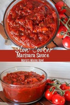 Slow Cooker Marinara Sauce that cooks all day and has ahh-mazing rich flavor! So… Slow Cooker Marinara Sauce that cooks all day and has ahh-mazing rich flavor! So easy to make in the crockpot and tastes better than anything you could buy at the store! Slow Cooker Spaghetti Sauce, Slow Cooker Pasta, Slow Cooker Recipes, Cooking Recipes, Crockpot Recipes, Vegetarian Recipes, Fresh Tomato Marinara Sauce, Pasta Sauce With Fresh Tomatoes, Tomato Sauce Crockpot