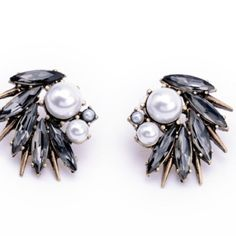 HPx2  Pearl Statement Earrings OMG!!!!! These are real statement earrings. If you want to get all the compliments then you must get these. I only have two instock.  Comment for a listing and you will be so happy!!! Jewelry Earrings