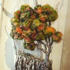 Textile Design, Textile Art, Woolen Craft, Fabric Art, Grapevine Wreath, Fiber Art, Lana, Stuff To Do, Floral Wreath