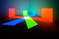 ChromaTherapyLight, Dan tobin smith - contemporary art Installation neon blue neon art neon red