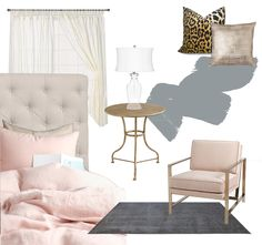 Blushing Blogger, pink, blush, interior, design, home decor, inspiration, west elm, target, leopard pillow, gold, gray
