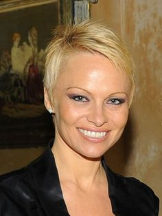 Pamela Anderson I love the audaciousness of Pamela's pixie. It was such a bold move (I didn't cut it). And what's great about such an extreme cut is that you can experiment with different lengths as you grow it out—every month it's a new look. Pixie Hairstyles, Pixie Haircut, Cool Hairstyles, Popular Short Haircuts, Cool Haircuts, Short Hair Cuts For Women, Short Hair Styles, Pixie Styles, Short Cuts