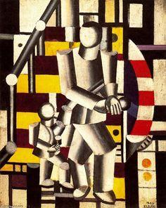 Le Staircase2, huile de Fernand Leger (1881-1955, France)