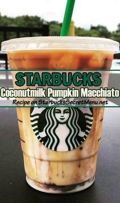 Coconutmilk Pumpkin Macchiato New secret Starbucks drink!New secret Starbucks drink! Starbucks Fall Drinks, Starbucks Secret Menu Drinks, Starbucks Pumpkin, Starbucks Coffee, Pumpkin Spice Latte, Pumpkin Pumpkin, Coffee Drink Recipes, Coffee Drinks, Coffee Cafe