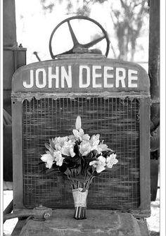 John Deere n wedding flowers
