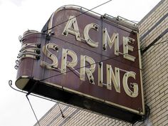 Acme Spring Sign