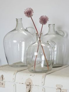 Glass Flagon Vases