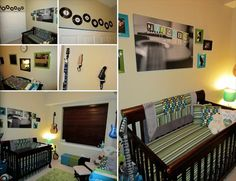 My Rock 'n' Roll nursery.... Love the way it turned out!