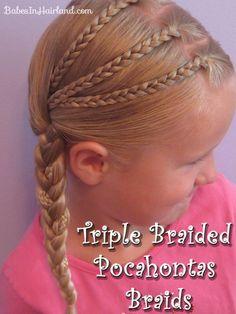 Triple Braided Pocahontas Braids