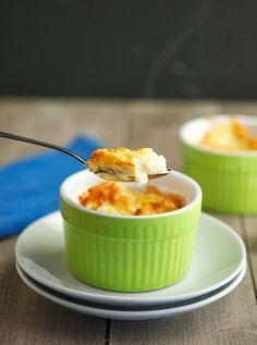 Cheesy Cauliflower Soufflé (Low Carb & Gluten-Free)