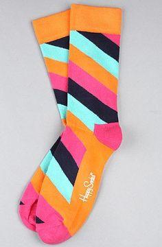 Happy Socks The Polka Stripe Socks in Multi,Socks for Men