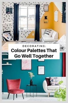 The colour combos that you pick for your home can say a lot about you and make a major impact on the look and feel of your space, so if you're ready for something a bit more complex, don't be afraid to mix things up and experiment with interesting and unusual pairings. To help get you started, I found 14 cool colour palettes that you might not have thought of — but that are surprisingly stylish. Small Rooms, Small Spaces, Cool Color Palette, Kitchen Colour Schemes, Kids Study, Bedroom Photos, Calming Colors, Boho Kitchen, Yellow Art