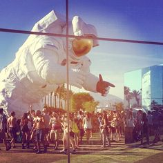 www.PoeticKinetics.com #PoeticKinetics #CoachellaAstronaut