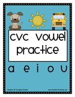 CVC Vowel Activity: Choose the correct vowel to complete the CVC word patter. Then, unscramble and write the CVC words.  CVC Vowel Activity – Click Here    Information: Phonics, CVC, Word Patterns, CVC Words