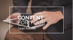 Delivering the right content to the right people on the right channel set your B2B content marketing up for success. #B2B #targetmarket #contentmarketing