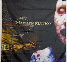 MARILYN MANSON Antichrist Superstar HUGE 4X4 BANNER poster tapestry cd album  | eBay