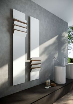 design heizkörper bad vertikal weiss FLAPS Victor Vasilev antrax