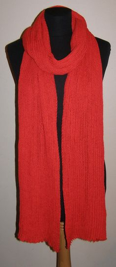 ORANS RED Long  SCARF  Icelandic production by HuldaGK on Etsy, $28.50