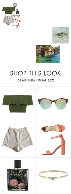 """""""Life's a beach"""" by aliahrfp on Polyvore featuring WearAll, MANGO, Lacoste, Nude, Nest, Jennifer Meyer Jewelry and PATH"""